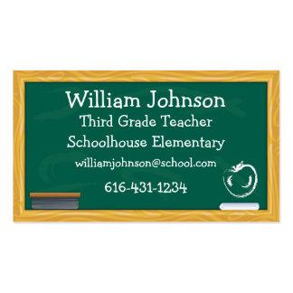 School Chalkboard Teacher Business Card Pack Of Standard Business Cards