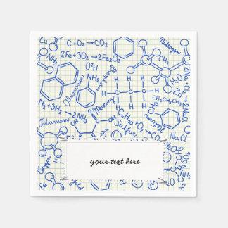 School chemical pattern napkin