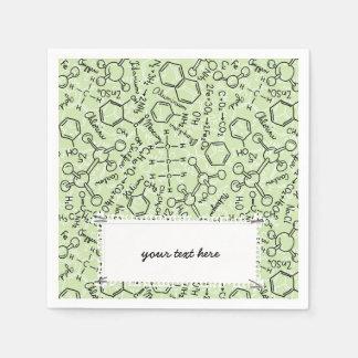 School chemical pattern paper napkin