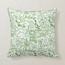 School chemical pattern throw pillow