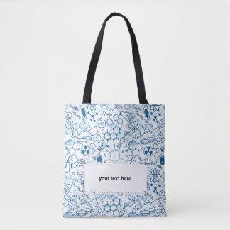 School Chemical pattern tote bag
