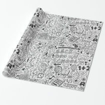 School chemical pattern wrapping paper