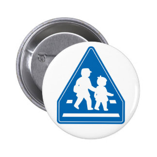 School Children Crossing >> Japanese Traffic Sign Pinback Buttons