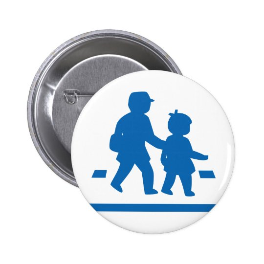 School Children Crossing >> Japanese Traffic Sign Button
