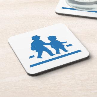 School Children Crossing >> Japanese Traffic Sign Coaster