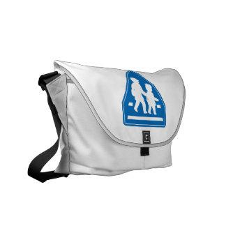 School Children Crossing >> Japanese Traffic Sign Courier Bag