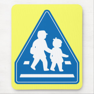 School Children Crossing >> Japanese Traffic Sign Mouse Pad