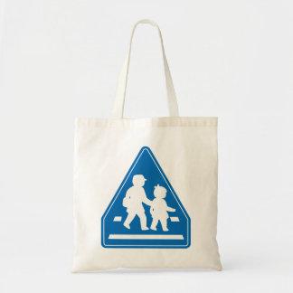 School Children Crossing >> Japanese Traffic Sign Tote Bag