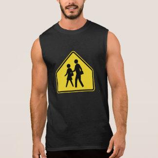 School Children Crossing Traffic Warning Sign USA Sleeveless Shirt