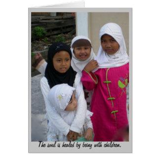School Children Indonesia Card