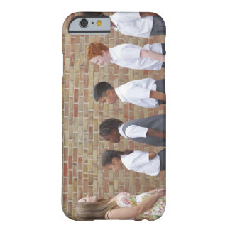 School children lining up in the playground for barely there iPhone 6 case