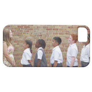 School children lining up in the playground for iPhone SE/5/5s case
