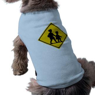 School Children, Traffic Sign, Japan Doggie Tee Shirt