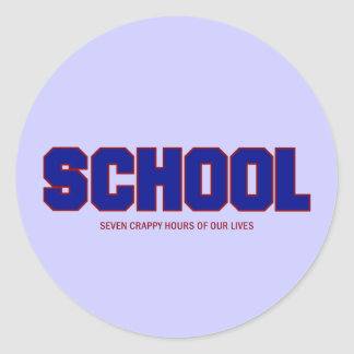 SCHOOL CLASSIC ROUND STICKER