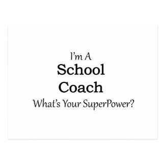 School Coach Postcard