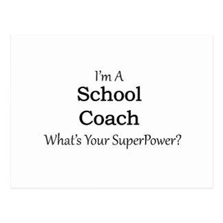 School Coach Postcard