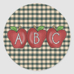 School Collection ABC Apple Stickers
