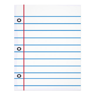 School Collection flyers, notebook paper