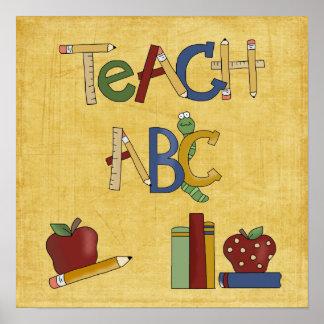 School Collection Teach ABC School Poster