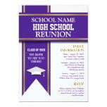 School Colors Banner Custom Class Reunion Personalized Announcement