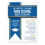 School Colors Banner Custom Class Reunion Personalized Invite