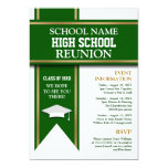 School Colors Banner Custom Class Reunion Custom Invites