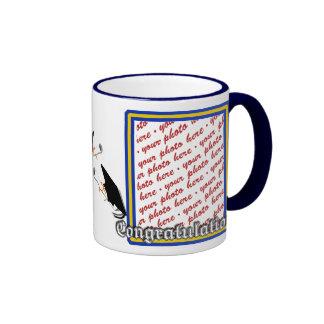 School Colors  Blue & Gold Graduation Frame Ringer Mug