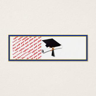 School Colors Gold & Blue Photo Frame Mini Business Card