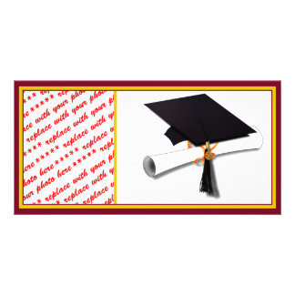 School Colors Gold & Red for The Graduate Photo Card