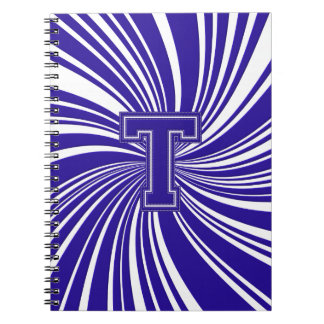 School Colors Spiral Twirl Notebook Blue & White T