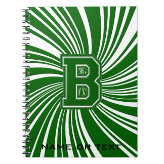 School Colors Twirl Notebook Green & White B