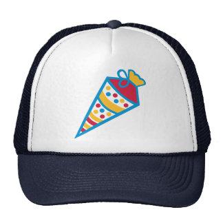 School cone trucker hats