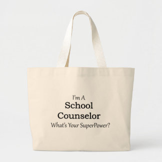 School Counselor Large Tote Bag