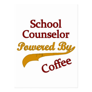 School Counselor Powered By Coffee Postcard