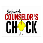 School Counselor's Chick Postcard