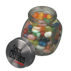 School Counselors Do It Better Glass Candy Jars at Zazzle