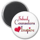 School Counselors Inspire 2 Inch Round Magnet