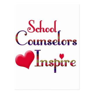 School Counselors Inspire Postcard