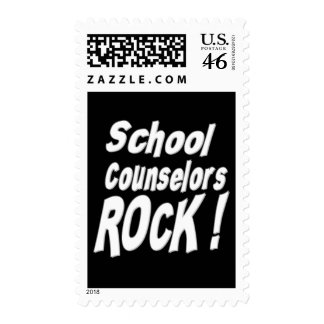 School Counselors Rock Postage Stamp