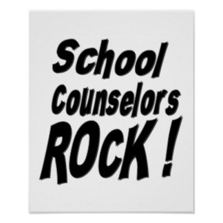 School Counselors Rock! Poster Print