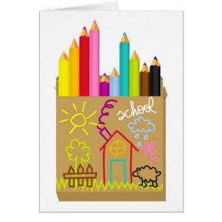 'School' Crayons Card