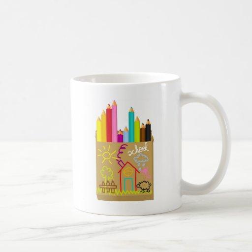 'School' Crayons Classic White Coffee Mug