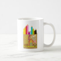 'School' Crayons Coffee Mug