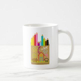 'School' Crayons Coffee Mug