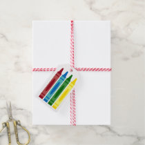 School Crayons Personalized Gift Tags