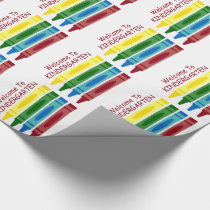 School Crayons Personalized Wrapping Paper