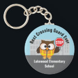 "School Cross Guard Safety Patrol Thank You Keychain<br><div class=""desc"">Personalize these cute keychains as an inexpensive thank you gift for crossing guards and safety patrols.</div>"