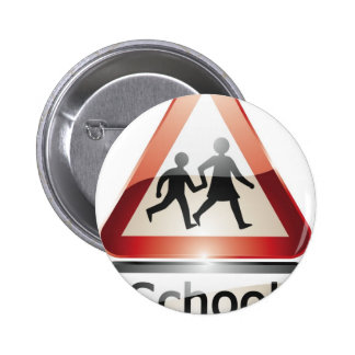 school crossing 2 inch round button