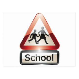 school crossing postcard