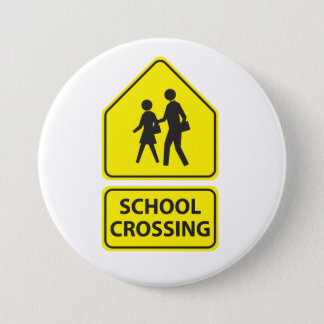 School Crossing Sign Button